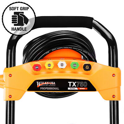 Wilks-USA Pressure Washer - 3950PSI / 272BAR - Petrol Jet Power Car Wash Cleaner 5