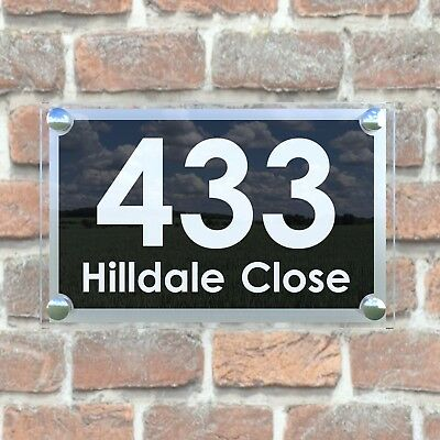 Large Contemporary House Sign Plaques Door Number 1 - 999 Door numbers PAR19WB 4