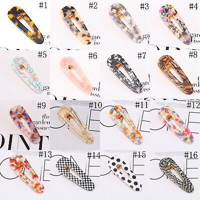 Fashion Women's Hair Slide Clips Snap Barrette Hairpin Pins Hair Accessories 6