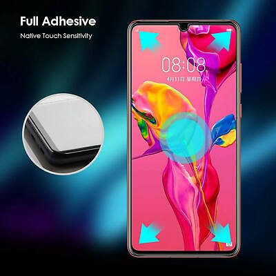 New For Huawei P30 Pro Tempered Glass Screen Protector Full Protection 2 Pack 6