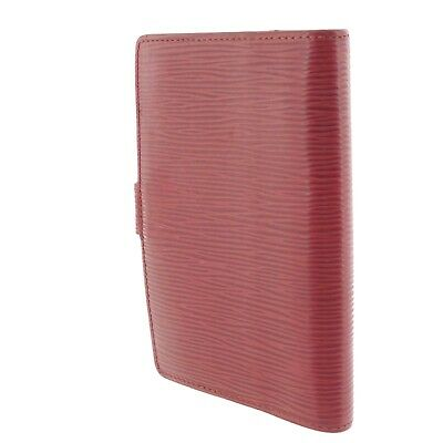 Auth LOUIS VUITTON Epi Agenda PM Day Planner Cover Red Leather R2005E #f41439 2