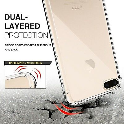 For iPhone XR Case Shock Proof Crystal Clear Soft Silicone Gel Bumper Cover Slim 8
