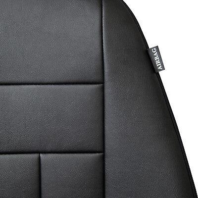 Maßgefertigte Vordersitzbezüge Kunstleder Schwarz für Mercedes W245