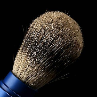 1PC Travel Shaving Brush Pure Badger Hair Removable Aluminum Handle Portable 7