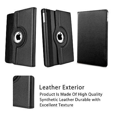 360 Rotate Leather Case Cover For Apple iPad 2 3 4 5 6 Air 1 2 Mini Pro New 9.7 8