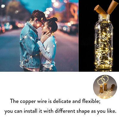 10 20 30 LED Cork Shaped Copper Wire String Light Wine Bottle For Decor RD494 3