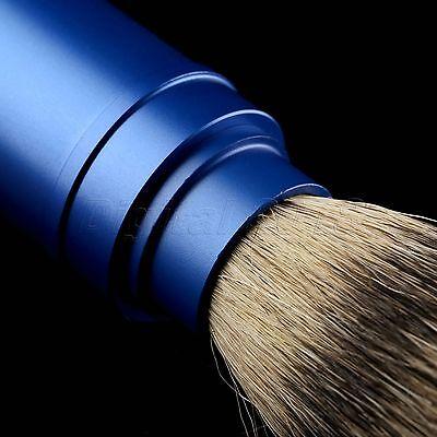 1PC Travel Shaving Brush Pure Badger Hair Removable Aluminum Handle Portable 10