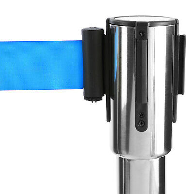 2 x Barreras de Control de Masas Retráctil la Azul