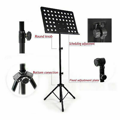 Heavy Duty Metal Foldable Music Stand Holder Tripod Orchestral Conductor Sheet 5