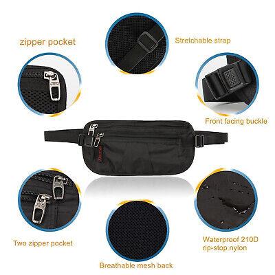 Slim Design Bumbag RFID Running Belt Water-proof Adjustable Waist Bag Travelling 6
