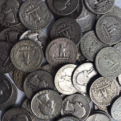 90% Silver Washington Quarters $1 Face Value 2