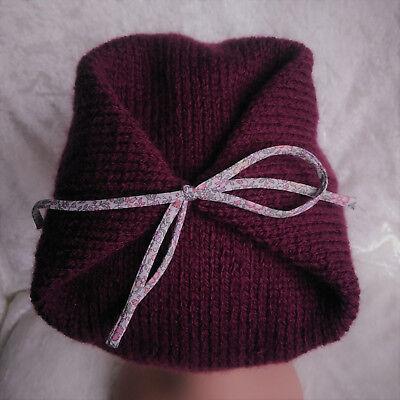 Neuf Tricoté à la main lilas et violet bébé bonnet 0-3//3-6//6-9 mois