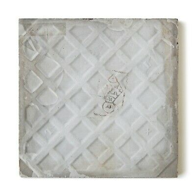Antique Tile Victorian Aesthetic Gothic Arts Crafts Floral Lea Hearth Green Gray 7