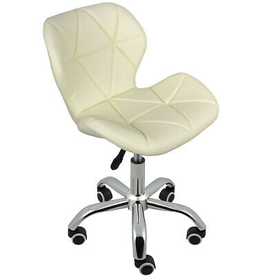 Cushioned Computer Desk Office Chair Chrome Legs Lift Swivel Small Adjustable 3
