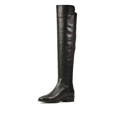 cocina Diploma cesar  CLARKS LADIES PURE Caddy Black Leather Knee High Boots - New In Box Rrp  £159.00 - £99.95 | PicClick UK
