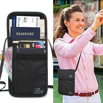 Travel Wallet & Family Passport Holder w/RFID Blocking- Document Organizer Case 2