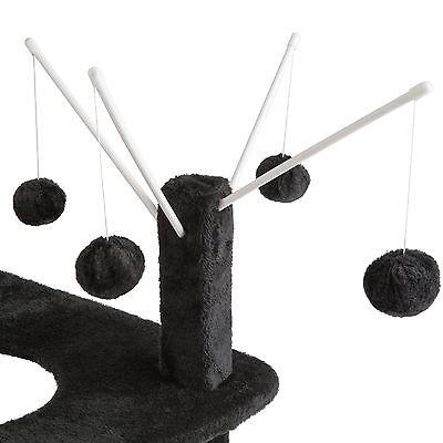 Arbre à chat griffoir grattoir animaux avec des 4 boules 90 cm hauteur noir 3