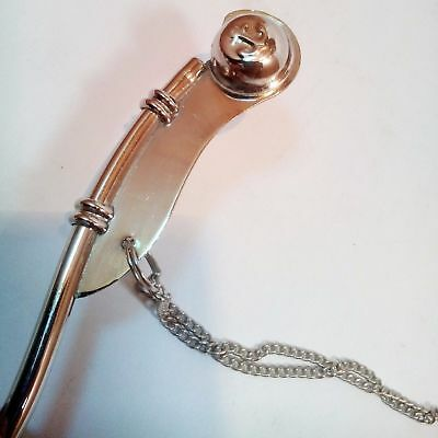 "Lot Of 10 Pcs Nautical Antique Brass Nickel Boatswain's Pipe Bosun Whistle 5"" 4"