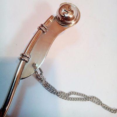 "Lot Of 25 Pcs Nautical Antique Brass Nickel Boatswain's Pipe Bosun Whistle 5"" 4"