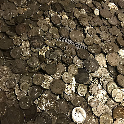✯1 Ounce OZ 90% SILVER US COINS $✯OLD ESTATE SALE LOT HOARD✯ BULLION +FREE GOLD✯ 9