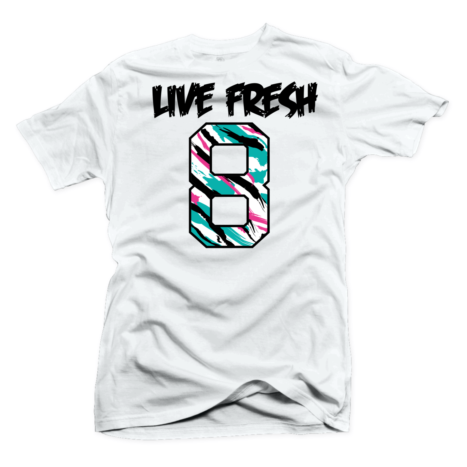 6d47b17e1b803 SHIRT TO MATCH Jordan 8 South Beach-Live Fresh White Tee