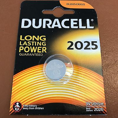 New Duracell CR2025 3V Lithium Coin Cell Battery 2025 DL/BR2025 Longest Expiry 3