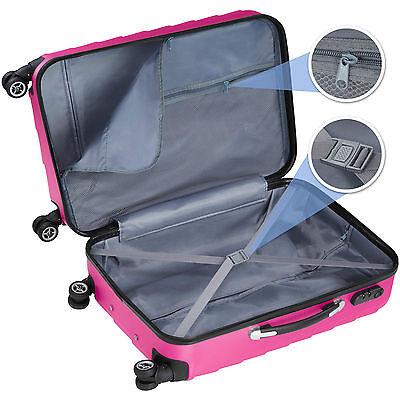 Set 3 piezas maletas ABS juego de maletas de viaje trolley maleta dura rosa 3