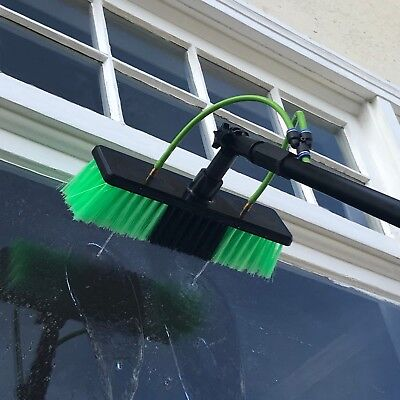 20ft Window Cleaning Telescopic Water Fed Pole Squeegee & 16L Backpack Spray 3