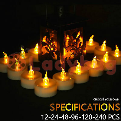 Led Tea Light Candles Tealight Flameless Wedding Battery Included White 3