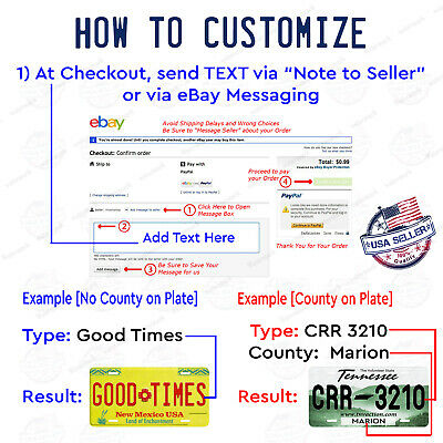 California Style Any Text Personalized Novelty Auto Car License Plate Bicycle 2
