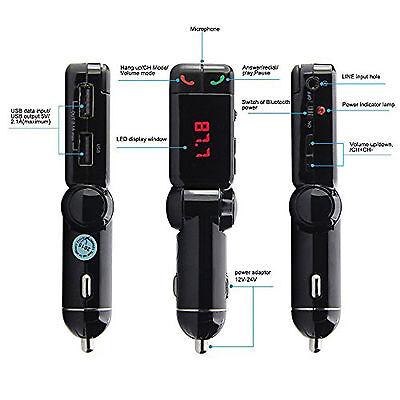 Wireless Bluetooth Car Kit FM Transmitter Handsfree Car Charger MP3 Player USB 6