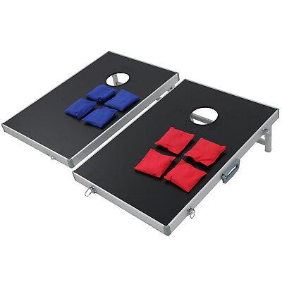 CornHole Bean Bag Toss Game Set Aluminum Frame Portable Design W/ Carrying Case 11