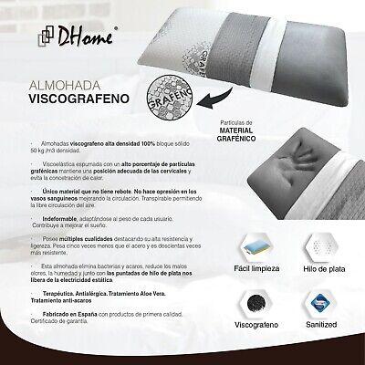Almohada Almohadas de Viscoelastica, Visco Gel Grafeno Copos Fibra Carbono 5