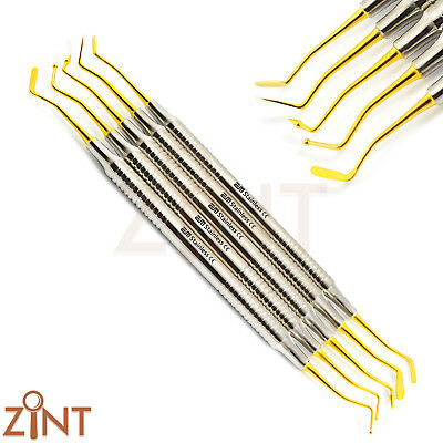 Composite Dental Instruments Gold Tip Hollow Handle Filling Dentist Pluggers Kit 2