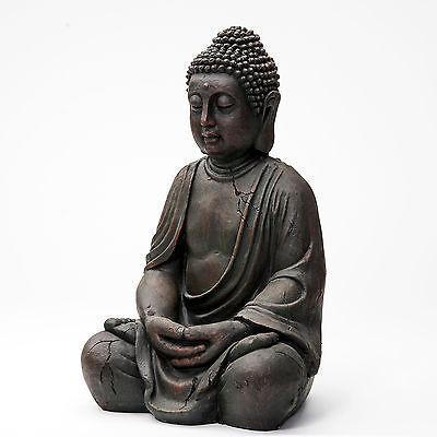 Buddha Deko Figur Budda Skulptur Buddhismus Statue Feng Shui Glück Joga 50 cm