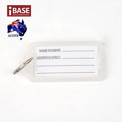 10x Key Ring Indicate Luggage Tag ID Label Travel Suitcase Identity Name Card 5
