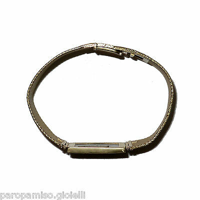 18k Gold Wristband Mounting Antique Jet (Fossilized Wood) 18 century.   (0589) 3