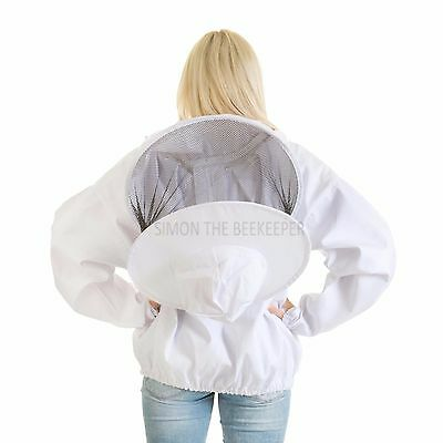 Beekeeping bee jacket with Round Veil - Kids Small 4