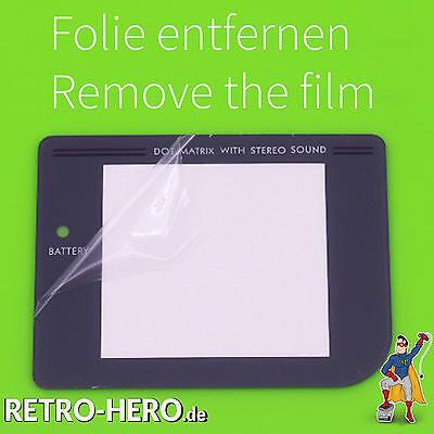 GameBoy Classic Display Scheibe Ersatz / Austausch Game Boy screen LCD Grau 3