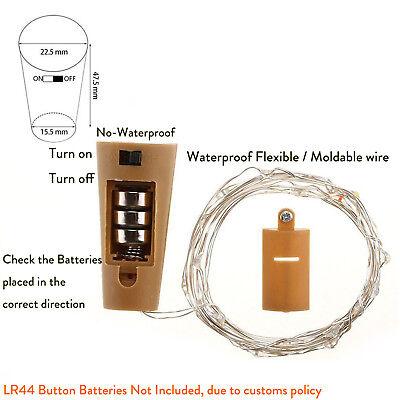 10 20 30 LED Cork Shaped Copper Wire String Light Wine Bottle For Decor RD494 4