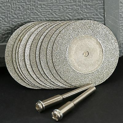 10PC 35mm Mini Diamond Coated Cutting OFF Discs Rotary Tool For Grinder Drill 2