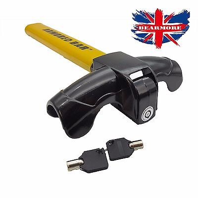 Anti-Theft Car/Van Security Rotary Steering Wheel Lock-High Visibility UK SELLER 2