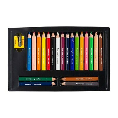 Kids Short Thick Colour Pencils Pack of  20 + Sharpener BRUYNZEEL 6