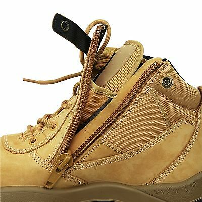 a093e07d3ca MONGREL WORK BOOTS Side Zip Safety Steel Toe Wheat Scuff Cap Security 461050