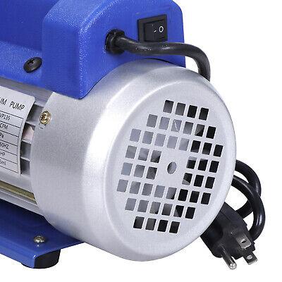 Rotary Vane Deep Vacuum Pump 1Stage 4 CFM 1/3HP HVAC AC Air Refrigerant Tool 5