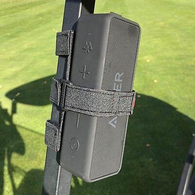 Bushwhacker Speaker Mount for Golf Cart Railing Blue Tooth Holder Wireless Bar 5