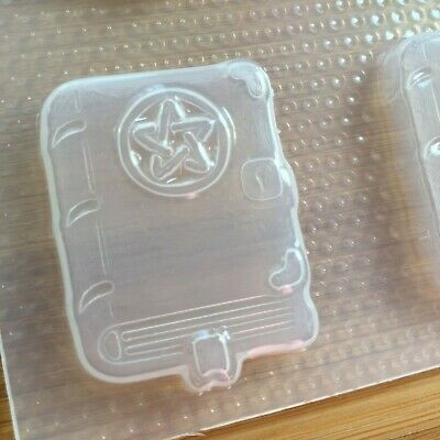 4.7 oz Spell Book Mold Bath Bomb Mould Flexible Plastic Huge Soap Witch Wicca