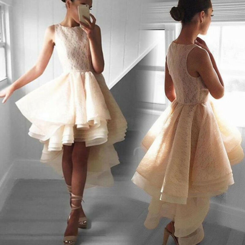 ae5d2d2a80 Women Formal Strappy Short Tulle Tutu Dress Wedding Evening Party Prom  Cocktail 6 6 of 9 See More