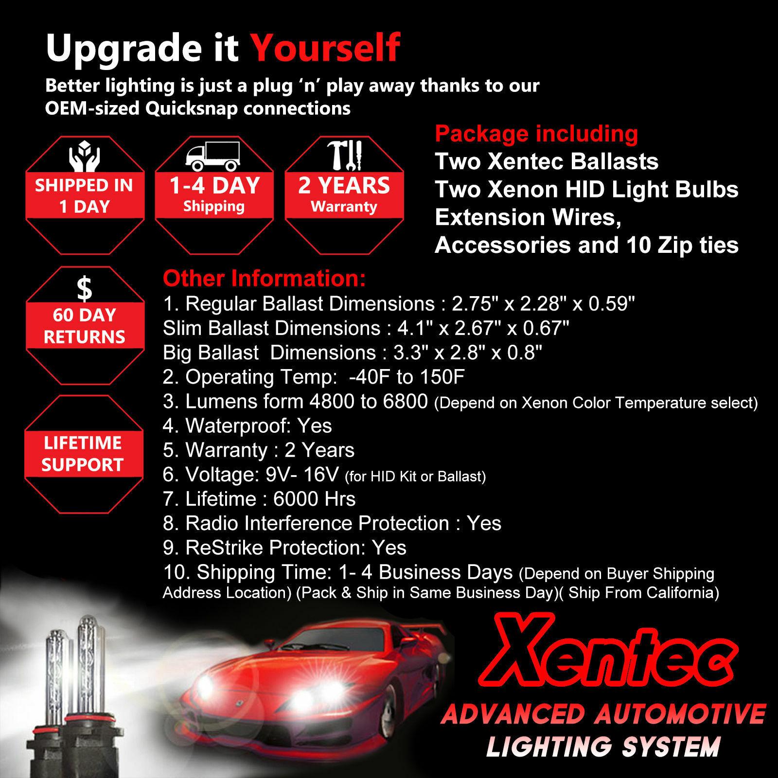 Xentec Xenon Headlight HID Kit for Honda Civic Accord H4 H11 9005 9006 880 H10 4