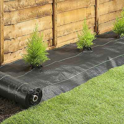 3m wide 100gsm weed control fabric ground cover membrane landscape mulch garden 4